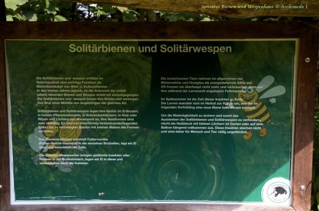 Solitäres Bienen-und Wespenhaus © Archimeda 1-3