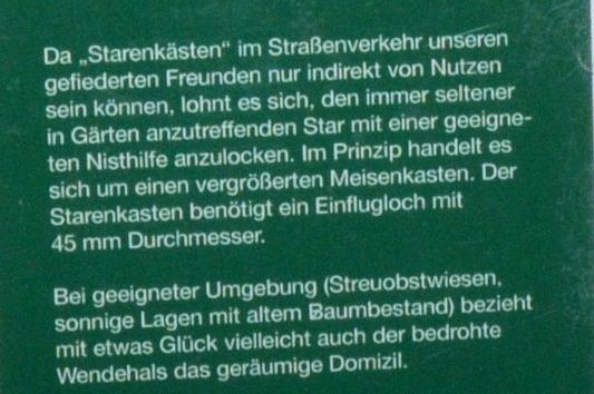 Nistkasten für Star und Wendehals_Erklärung © Archimeda 1-2