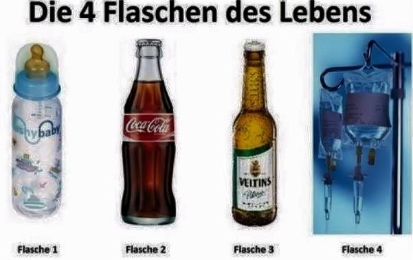 Flaschen des Lebens