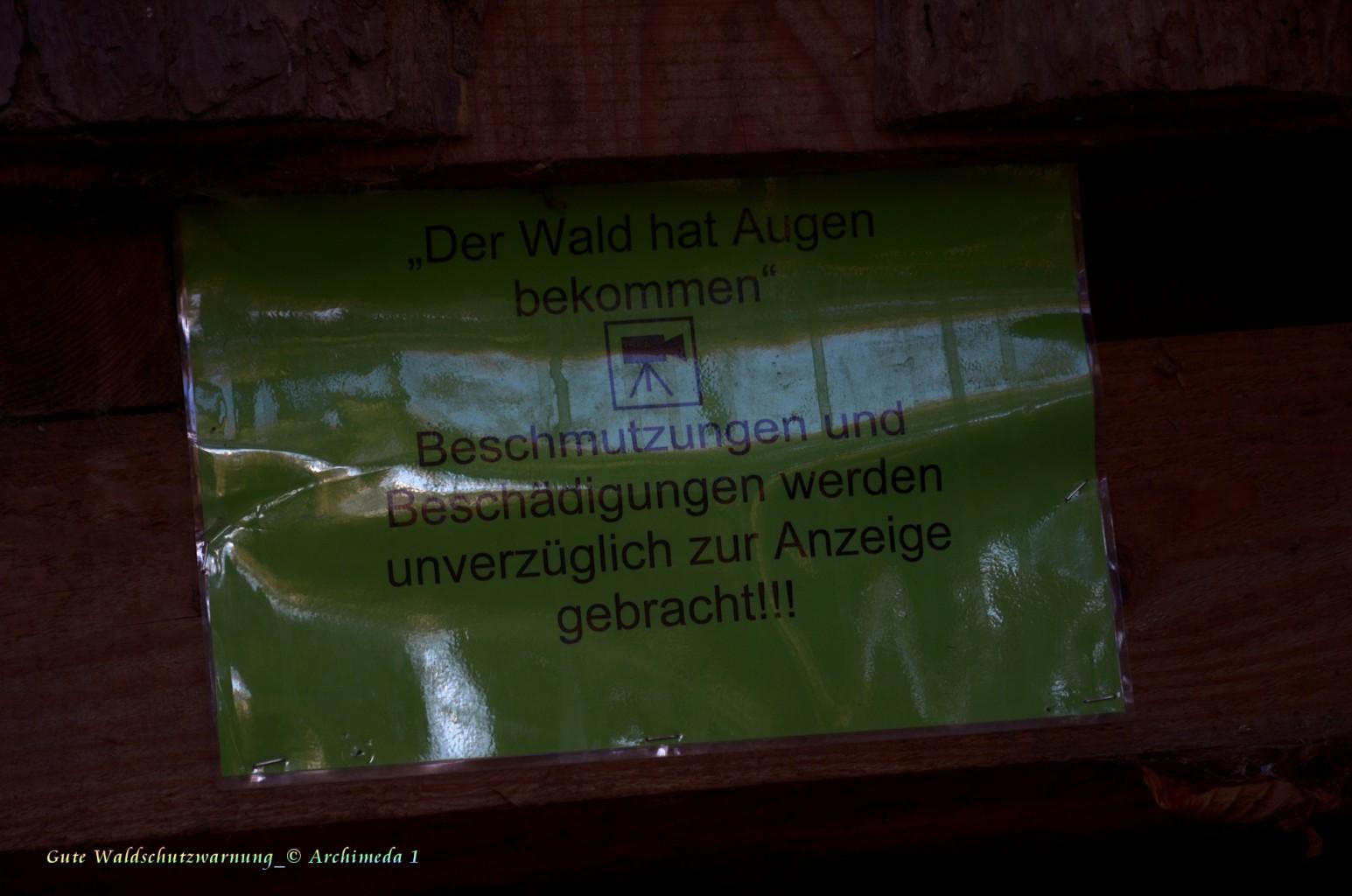 Gute Waldschutzwarnung_© Archimeda 1