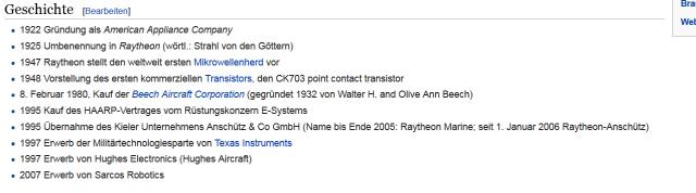 Snippet aus wikipedia