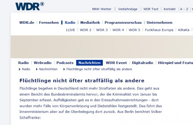 WDR_4_Nachrichtenausschnitt vom 13.11.2014