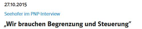 Snippet_seehofer-direkt_de vom 17.10.2015