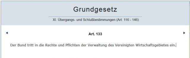 Bund_Artikel 133 GG