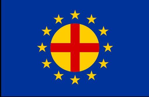 Flagge Paneuropa