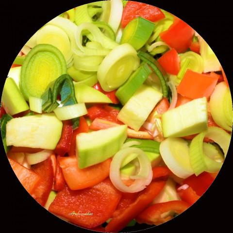 Gemüsemischung für Gemüserreis mit HB-Filet ©Archimeda1