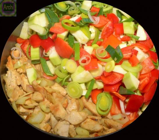 Gemüsemischung für Gemüserreis mit HB-Filet_2_ ©Archimeda1