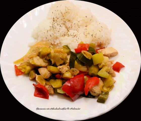 Gemüsereis mit Hähnchenbrustfilet © Archimeda1